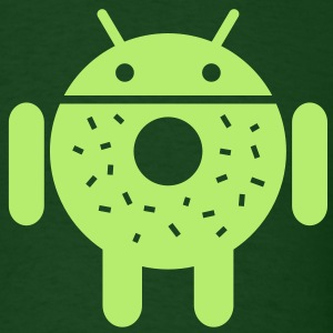 Droid Donut 2 (only) T-Shirts - Men's T-Shirt