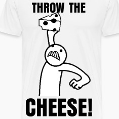 Throw The Cheese White T-shirt