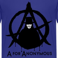A for Anonymous 2c Kids' Shirts