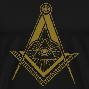 All Seeing Eye (Black) - T-Shirts - Men's Premium T-Shirt