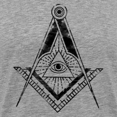 All Seeing Eye (Faded Black) - T-Shirts