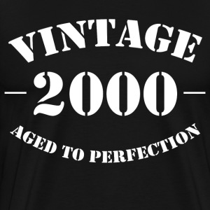 Vintage 2000 Aged to Perfection - Men's Premium T-Shirt