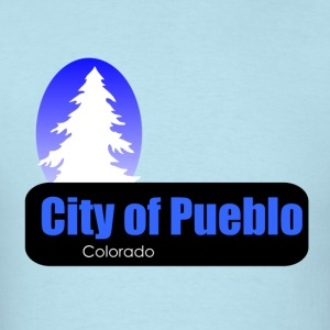 Pueblo Colorado t shirt truck stop novelty - Men's T-Shirt