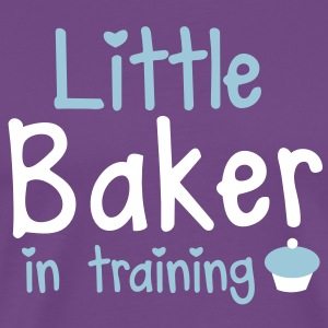 little baker in training with a cute cupcake T-Shirts - Men's Premium T-Shirt
