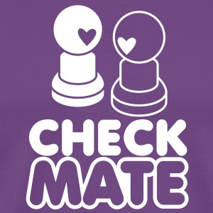 CHECK your MATE chess humour design T-Shirts - Men's Premium T-Shirt