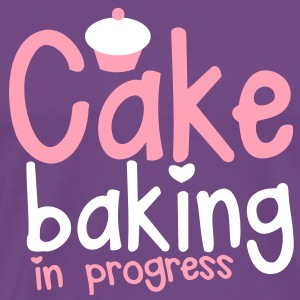 CAKE BAKING in progress  with a cute cupcake T-Shirts - Men's Premium T-Shirt