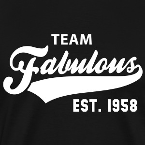 TEAM Fabulous Est. 1958 Birthday Shirt WB - Men's Premium T-Shirt