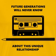 Relationship Audio Tape Pencil T-Shirts