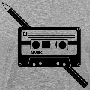 Cassette Audio Tape Pencil Relationship T-Shirts - Men's Premium T-Shirt