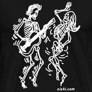 Skeletons Dancing T-Shirts - Men's Premium T-Shirt