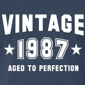 VINTAGE 1987 - Birthday T-Shirt WN - Men's Premium T-Shirt