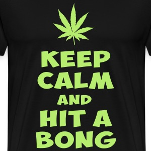 keep calm and hit a bong T-Shirts - Men's Premium T-Shirt