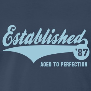 Established 1987 Birthday Anniversaire T-Shirt HN - Men's Premium T-Shirt