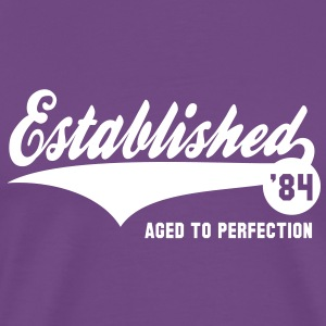 Established 1984 Birthday Anniversaire T-Shirt WP - Men's Premium T-Shirt