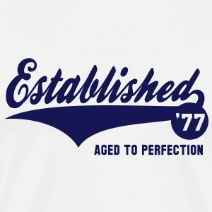 Established 1977 Birthday Anniversaire T-Shirt NW - Men's Premium T-Shirt