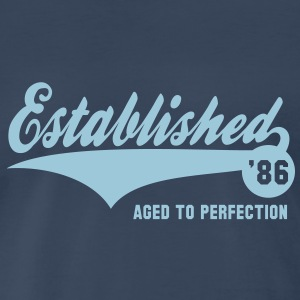 Established 1986 Birthday Anniversaire T-Shirt HN - Men's Premium T-Shirt