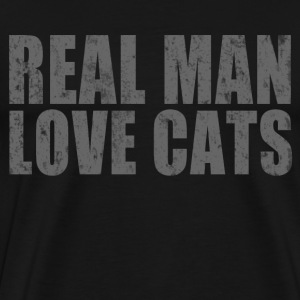 Real Man Love Cats - Men's Premium T-Shirt