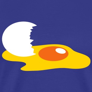 a broken egg with shell and egg yolk T-Shirts - Men's Premium T-Shirt