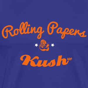 ROLLING PAPERS AND KUSH T-Shirts - Men's Premium T-Shirt