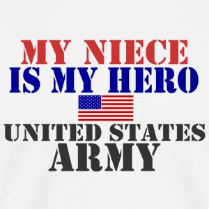 MY NIECE IS MY HERO US ARMY T-Shirts - Men's Premium T-Shirt