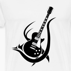 Tribal Guitar T-Shirts