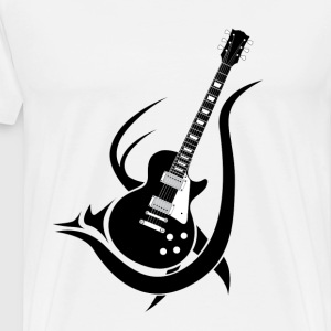 Tribal Guitar T-Shirts - Men's Premium T-Shirt