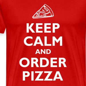 Keep Calm and Order Pizza T-Shirts - Men's Premium T-Shirt