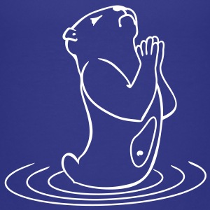 otter prayer (1c) Kids' Shirts - Kids' Premium T-Shirt