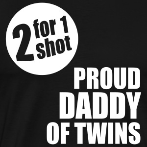 2for1 proud daddy of twins Shirt WB - Men's Premium T-Shirt