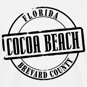 Cocoa Beach Title Heavyweight T-Shirt - Men's Premium T-Shirt
