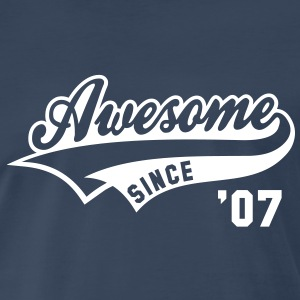 Awesome SINCE 07 Birthday Anniversary T-Shirt WN - Men's Premium T-Shirt