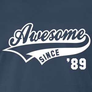 Awesome SINCE 89 Birthday Anniversary T-Shirt WN - Men's Premium T-Shirt