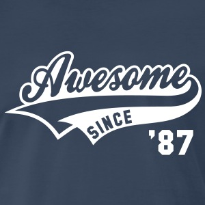 Awesome SINCE 87 Birthday Anniversary T-Shirt WN - Men's Premium T-Shirt