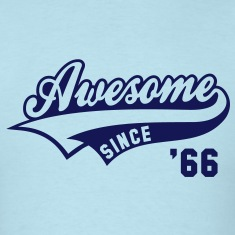 Awesome SINCE 66 Birthday Anniversary T-Shirt NS