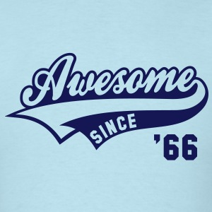 Awesome SINCE 66 Birthday Anniversary T-Shirt NS - Men's T-Shirt