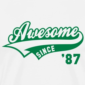 Awesome SINCE 87 Birthday Anniversary T-Shirt GW - Men's Premium T-Shirt