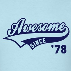 Awesome SINCE 78 Birthday Anniversary T-Shirt NS