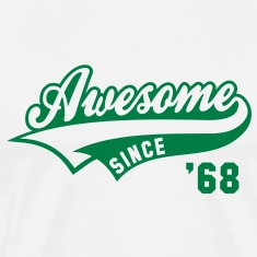 Awesome SINCE 68 Birthday Anniversary T-Shirt GW
