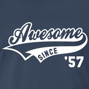 Awesome SINCE 57 Birthday Anniversary T-Shirt WN - Men's Premium T-Shirt