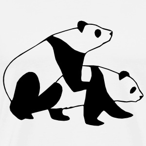 Panda Sex Street Art T-Shirts - Men's Premium T-Shirt