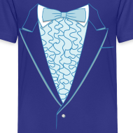 Design ~ Tuxedo T Shirt Deluxe Blue Youth