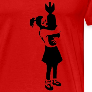 Banksy Graffiti - Bomb Girl kcco Vector T-Shirts - Men's Premium T-Shirt