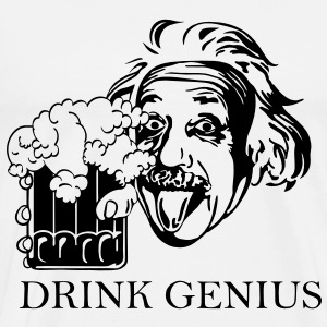 Drink Genius, Men's Heavyweight T-Shirt - Men's Premium T-Shirt