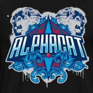 Design ~ Alphacat Men's 3XL/ 4XL Tee - Black