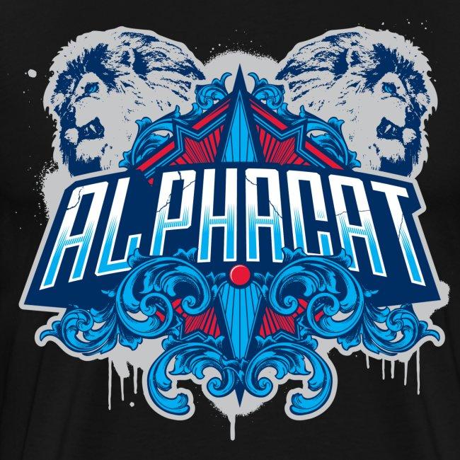 Alphacat Men's 3XL/ 4XL Tee - Black