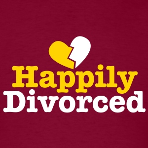 happily divorced with broken love heart T-Shirts - Men's T-Shirt