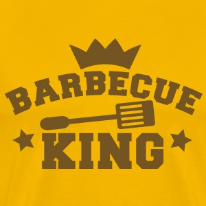barbecue BBQ king with a crown stars and a spatula  T-Shirts - Men's Premium T-Shirt