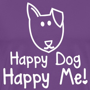 HAPPY DOG- HAPPY ME! with smiling puppy dog face T-Shirts - Men's Premium T-Shirt
