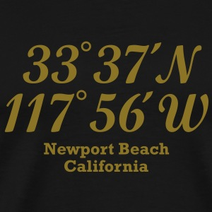 Newport Beach, California Coordinates T-Shirt - Men's Premium T-Shirt