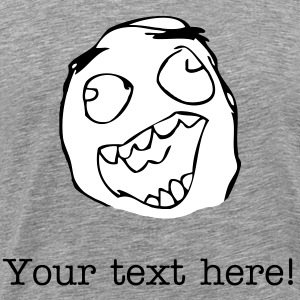 Happy Derp with your text! - internet meme - Men's Premium T-Shirt